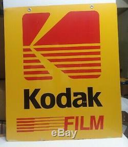 Grand Film D'origine Et Traitement Kodak Métal Caméra Boutique Enseigne Double Face