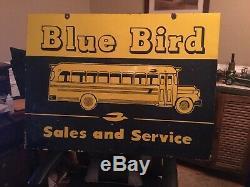 Grand Old Blue Bird Bus Dealer Vente Et Le Service Double Face Signe