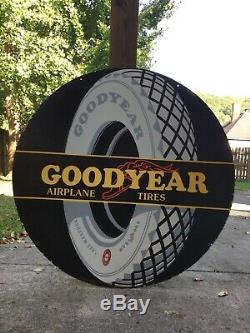 Grand Original Goodyear Tire Double Face Porcelain Signe 42