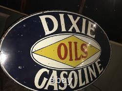 Grand Signe De Porcelaine À Essence Dixie À Double Face 60