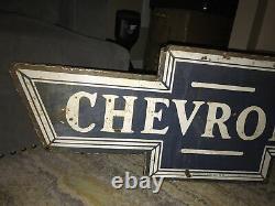 Grand Signe Double Face De Porcelaine De Chevrolet