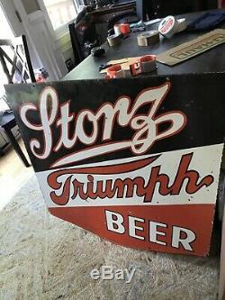 Grand Storz Originale Bière Double Face Porcelaine Signe