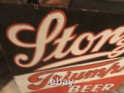 Grand Storz Triumph Beer Double Face Porcelaine Signe