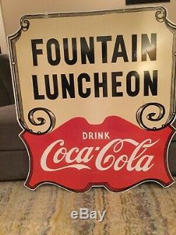 Grande Double Face Coca Cola Déjeuner En Porcelaine Connexion