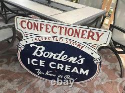 Grande Original Bordens Crème Glacée À Double Face En Porcelaine Connexion