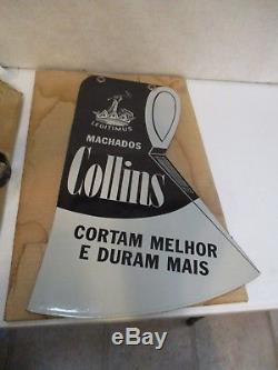 Hache Collins Vintage En Porcelaine Double Face