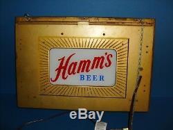 Hamms Beer Double Côté Éclairage Lumineux Des Années 1950