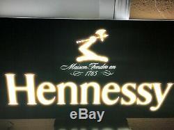 Hennessy Double Face Led Bar Garage Cave Man Inscription Cognac Liqueur