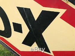 Huile De Station-service D-x En Porcelaine Double Face Originale Originale De 8 Pieds