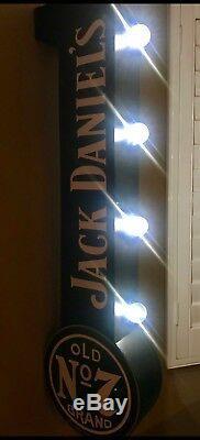 Jack Daniels Doublure Suspendue Double Signe Man Cave Garage X 2 Lumieres