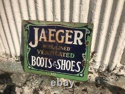Jaeger Enamel Signe Chaussures Chaussures Chaussures Laine Des Années 1930 À Double Face