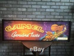 Joe Camel Vintage Signe De Bar Lumineux Double Face Moto Pour Man Cave