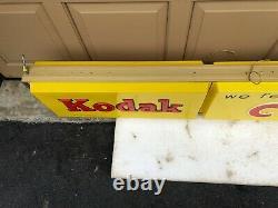 Kodak Advertising Light Up Sign Double Face 6 Pieds De Longueur De Travail