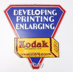Kodak Double Face Suspendu Signe En Métal Émaillé Pour Verichrome Film / Cks / 209667