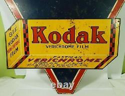 Kodak Verichrome Double Sided Signe 17 X 17 Pouces