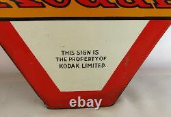 Kodak Verichrome Vintage Film Publicité Plaque De Porcelaine En Métal, Double Face