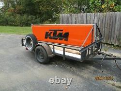 Ktm Dealer Sign Large 3' X 12' Great Condition Double Sided Exterior