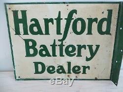 L'art Américain Double Face De Signe De Bride De Revendeur De Batterie Originale De Hartford