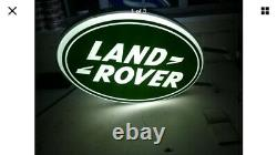 Land Rover Double Face Illuminated Connexion Concessionnaire Garage 90 110 Off Road