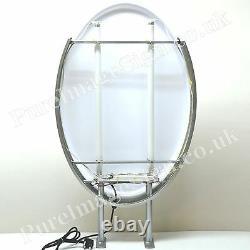 Led 22x32 Double Côté Extérieur Oval Projecting Light Box Signe 55x80cm