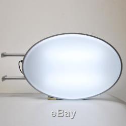 Led 55x80cm 20x30 Ovale Double Face Signe De Boîte À Lumière Extérieure