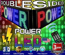 Led Couleur Mixte Double Face Sign 15 X 41 Programmable Scrolling Message Board
