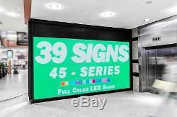 Led Extérieur Signe 45 Couleur, Panneau D'affichage Programmable, Numérique Résistant Aux Intempéries