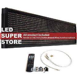 Led Super Magasin 3c / Rgy / Ir / 2f 19x52 Programmable De Défilement. Affichage Des Messages Connexion