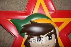 Legend Of Zelda Nintendo Nes Lien Promotionnel Afficher Signe Vintage Double Face