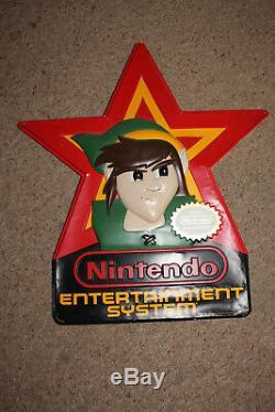 Légende De Zelda Nintendo Nes Link Signe D'affichage Promotionnel Vintage Double Face