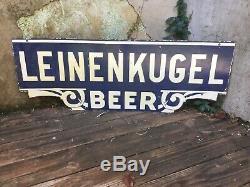 Leinenkugal Beer Signe En Porcelaine Double Face