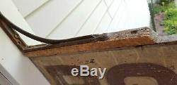 Les Chambres De Painted Antique Originale N. Michigan Main 1920 Wood Sign Double Face