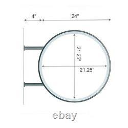 Light Box 60cm Circular Round Led Projecting Double Face Blank Illuminated Sign