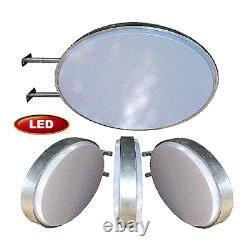 Light Box Signs Vente Oval Led Projecting Illuminating Blank Double Sided Sign