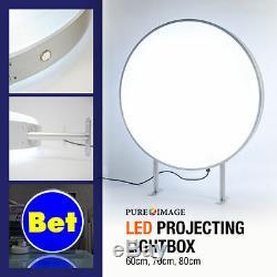 Lightbox 60cm Circulaire Led Signe Signe Illumination Vierge Double Face