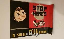 Magasin Général Original De Soude À Huile De Signe De Publicité De Cola De Spiffy De Signe Original