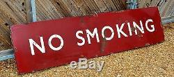 Midland Double Face Aucun Signe D'émail De Chemin De Fer Fumer Interdit