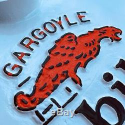 Mobiloil Gargoyle Porcelaine Double Face Curb Lollipop Signe Base 23,5 Pouces