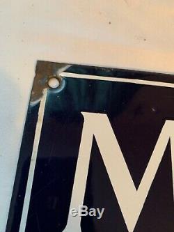 Motifs Imprimés Mccall Porcelaine Double Face Bride Publicité Sign