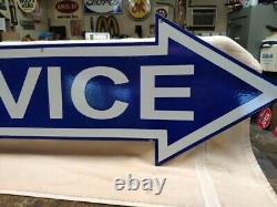 Nice Service Arrow Signe Porcelaine Double Sided 12 In 48 In