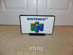 Nintendo 64 Double Face 12 Signal N64 Logo Émbossé Avec Le Nos D'emballage D'origine