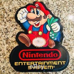 Nintendo Nes Connexion Super Mario Double Face Inscription Wall Art Man Cave Livraison Rapide