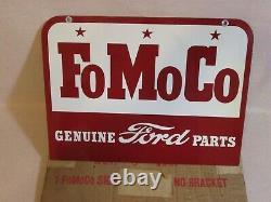 Nouveau-vieux Stock -1957 Fomoco Pièces Ford Authentiques -double Signe De Métal À Face Avec Boîte