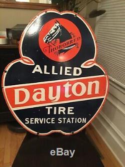 Old Dayton Tire Double Face Porcelain Signe