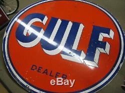 Orginal Golfe Concessionnaire Porcelain Signe Double Face 1957 66 En 1957 Large