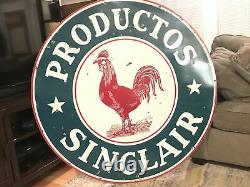 Original 48 Sinclair Oil Double Sided Porcelain Sign