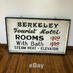 Original Double Face En Bois 1930 De Berkeley En Californie Hôtel Tourist Rooms Connexion