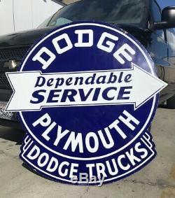Original Double Face Porcelaine Dodge Plymouth Porcelaine Signe Près De Menthe Walker