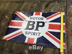 Original Spirit Bp Motor Double Face Émail Signe Avec Bride De Montage