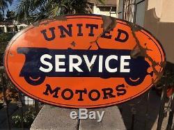 Origine United Motor Service En Porcelaine À Double Face 48 Signe